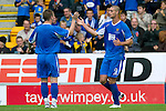 St Johnstone v Man Utd XI....31.07.10  Alan Main Testimonial.Marcus Hamer celebrates his goal with Andy Jackson.Picture by Graeme Hart..Copyright Perthshire Picture Agency.Tel: 01738 623350  Mobile: 07990 594431