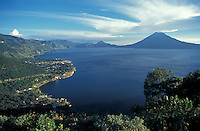 Lake Atitlan from above, Guatemala,