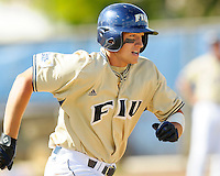 2 March 2008: Florida International first baseman Tyler Townsend (37) runs to first in the bottom of the seventh inning of the FIU 8-3 victory over Wagner  at University Park Stadium in Miami, Florida.
