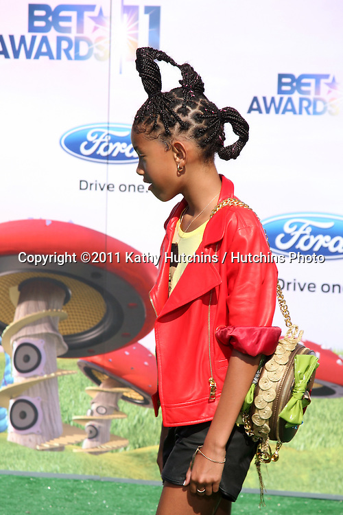 LOS ANGELES - JUN 26:  Willow Smith arriving at the 11th Annual BET Awards at Shrine Auditorium on June 26, 2004 in Los Angeles, CA