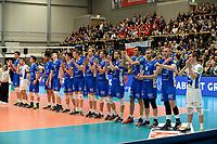 GRONINGEN - Volleybal, Abiant Lycurgus - Noriko Maaseik, Alfa College , Champions League , seizoen 2017-2018, 08-11-2017 line up Lycurgus