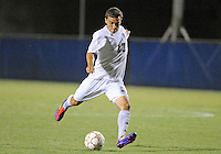 Florida International University men's soccer player Mario Uribe (17)  plays against Nova University on August 26, 2011 at Miami, Florida. FIU won the game 2-0. .