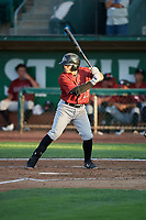 Julio Gonzalez (23) of the Idaho Falls Chukars bats against the Ogden Raptors at Lindquist Field on August 28, 2017 in Ogden, Utah. Ogden defeated Idaho Falls 7-1. (Stephen Smith/Four Seam Images)