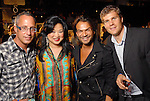 Mark Sullivan, Gigi Huang, Todd Ramos and Ondrej Zouhar at the the Simon Fashion Now extravaganza  at The Galleria Thursday Sept. 17,2009.(Dave Rossman/For the Chronicle)