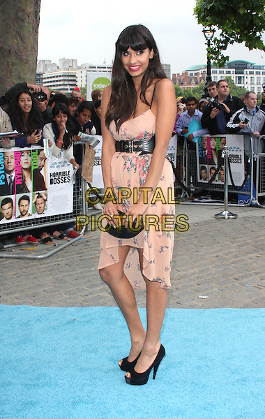 Jameela Jamil.Horrible Bosses UK Premiere, BFI, London, England..20th July 2011.full length pink floral print dress black belt shoes clutch bag.CAP/WIZ.© Wizard/Capital Pictures.