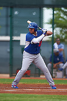 Los Angeles Dodgers Eric Meza (36) during an instructional league game against the Cleveland Indians on October 15, 2015 at the Goodyear Ballpark Complex in Goodyear, Arizona.  (Mike Janes/Four Seam Images)