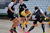 Malaysia's Ivana Sonia Anak Beriak in action during the World Floorball Championships 2017 Qualification for Asia Oceania Region - New Zealand v Malaysia at ASB Sports Centre , Wellington, New Zealand on Saturday 4 February 2017.<br /> Photo by Masanori Udagawa<br /> www.photowellington.photoshelter.com.
