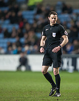 Referee Darren England during the The Checkatrade Trophy - EFL Trophy Semi Final match between Coventry City and Wycombe Wanderers at the Ricoh Arena, Coventry, England on 7 February 2017. Photo by Andy Rowland.