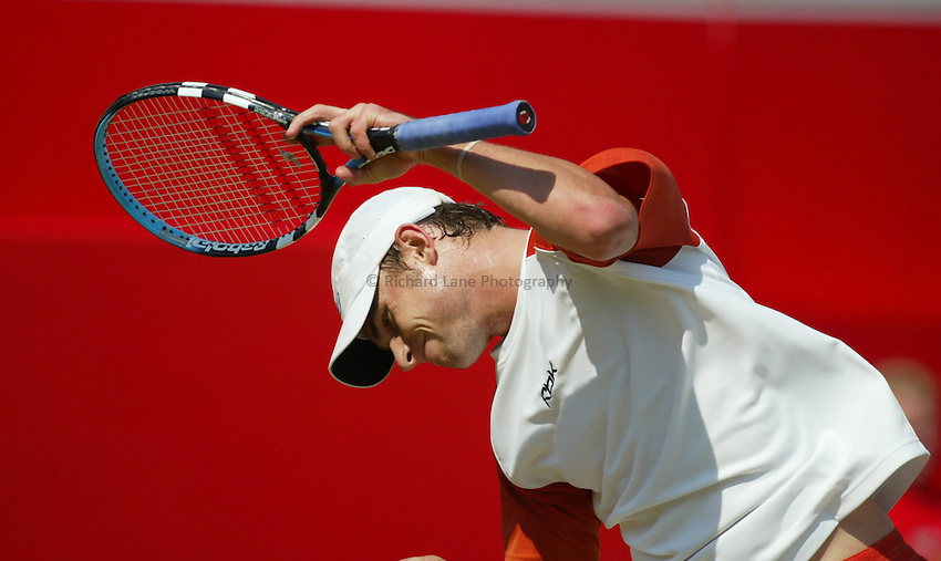 Photograph: Scott Heavey..Day 6 of the Stella Artois Championship at the Queens Club. 14/06/2003..Andy Roddick