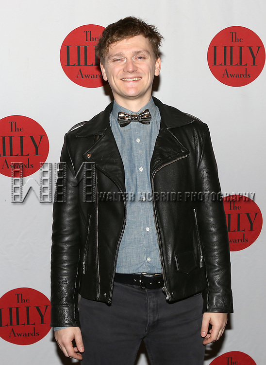 Adam Cochran backstage at The Lilly Awards Broadway Cabaret'   at The Cutting Room on November 9, 2015 in New York City.