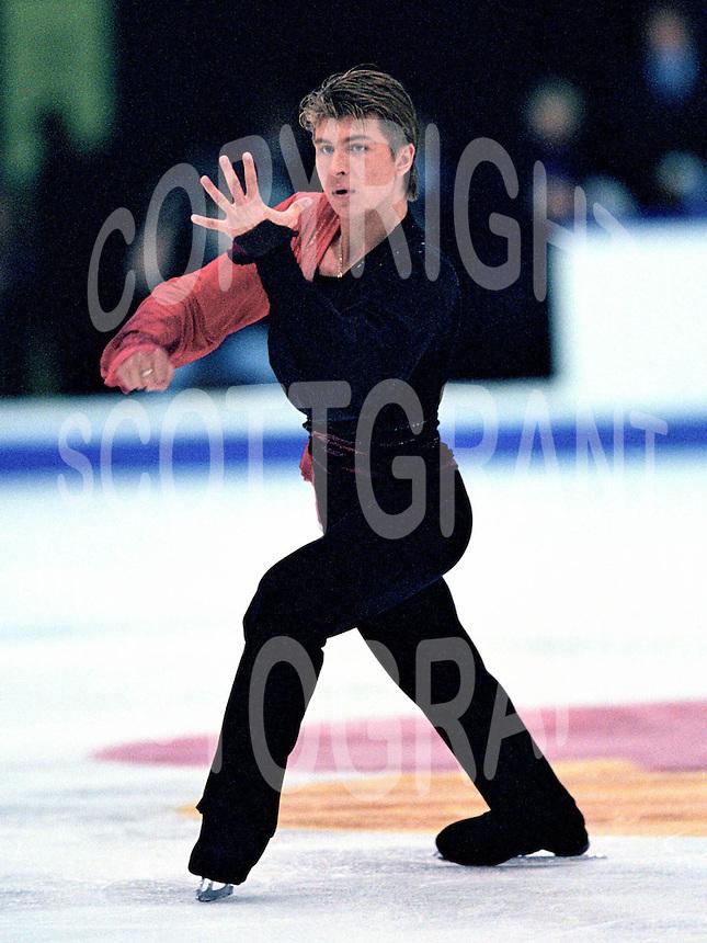 Alexei Yagudin Russian figure skater. Photo copyright Scott Grant