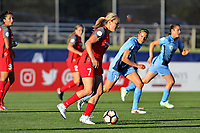 Piscataway, NJ - Saturday June 3, 2017: Lindsey Horan, Sarah Killion during a regular season National Women's Soccer League (NWSL) match between Sky Blue FC and the Portland Thorns at Yurcak Field.  Portland defeated Sky Blue, 2-0.