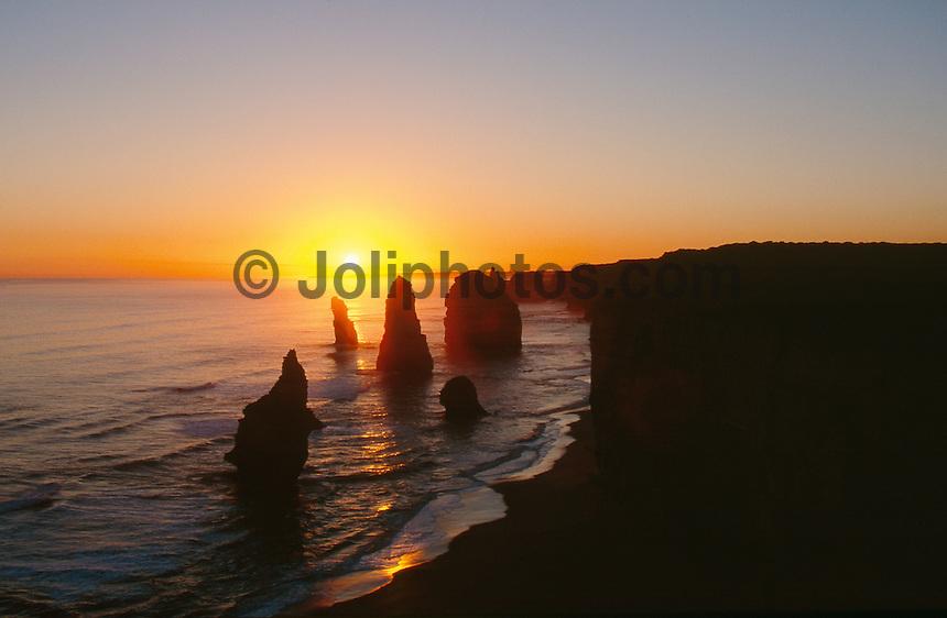Sunset over the 12 Apostles, south west Victoria, Australia..photo:  joliphotos.com