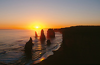 Sunset over the 12 Apostles, south west Victoria, Australia..photo:  joliphotos.com