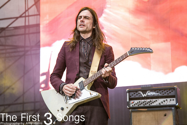Brian Bell of Weezer performs at White River State Park in Indianapolis, Indiana.