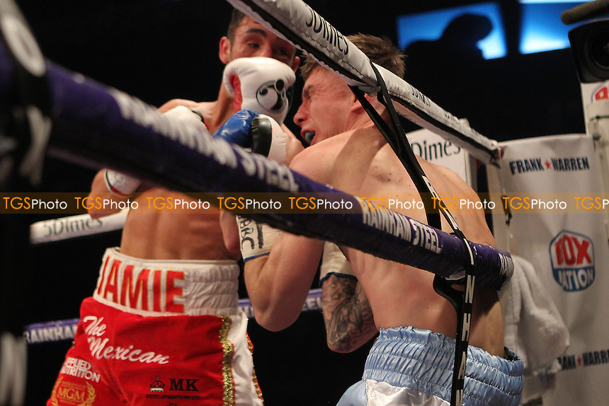 Anthony Nelson vs Jamie Conlan during a Boxing show at the Copper Box Arena on 30th April 2016