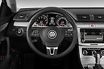 Steering wheel view of a 2010 Volkswagen CC Sport R-Line Sedan