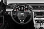 Steering wheel view of a 2010 Volkswagen CC Sport R-Line Sedan
