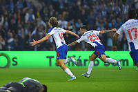 27th October 2019; Dragao Stadium, Porto, Portugal; Portuguese Championship 2019/2020, FC Porto versus Famalicao; Fabio Silva of FC Porto celebrates his goal with Otavio in the 88th minute, 3-0