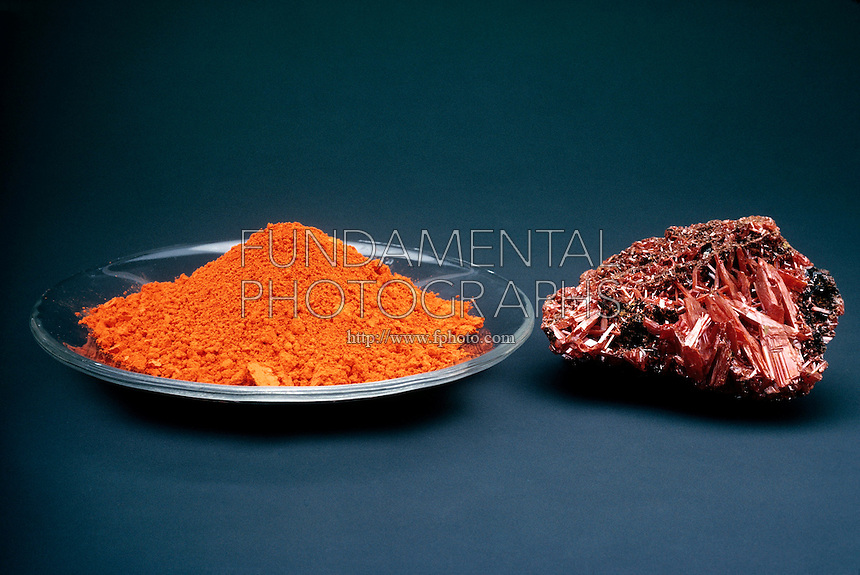 LEAD OXIDE AND CROCOITE<br />