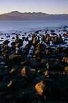 Rocks and mountains at low tide, Bahia de los Angeles, Baja California, Mexico