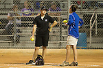 Jessica Poole, head coach for Cedar Ridge softball and Haley Gaddis, head coach for Westlake chat before the start of the Bi-District Game held at Noack Field Thursday.  The Raiders edged the Chaps 2-0.  (LOURDES M SHOAF for Round Rock Leader.)