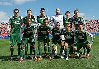 26 March 2011: The starting eleven for the Portland Timbers during an MLS game between the Portland Timbers and the Toronto FC at BMO Field in Toronto, Ontario Canada....