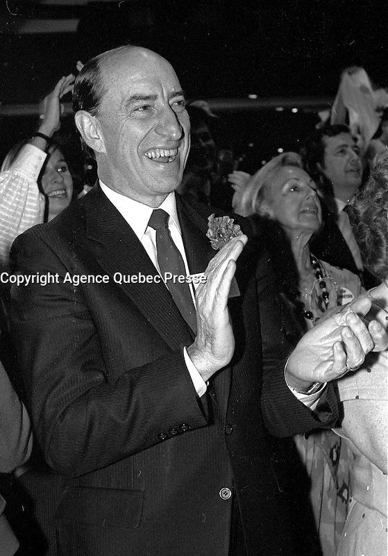 FILE PHOTO - Liberal Party of Canada's Leadership debate at the Queen Elizabeth Hotel, May 13, 1984.<br /> <br /> <br /> MANDATORY CREDIT <br /> PHOTO :  Pierre Roussel - Agence Quebec Presse