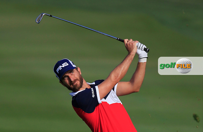 Alejandro Canizares (ESP) on the 2nd fairway during Round 4 of the Abu Dhabi HSBC Championship on Sunday 22nd January 2017.<br /> Picture:  Thos Caffrey / Golffile<br /> <br /> All photo usage must carry mandatory copyright credit     (&copy; Golffile | Thos Caffrey)