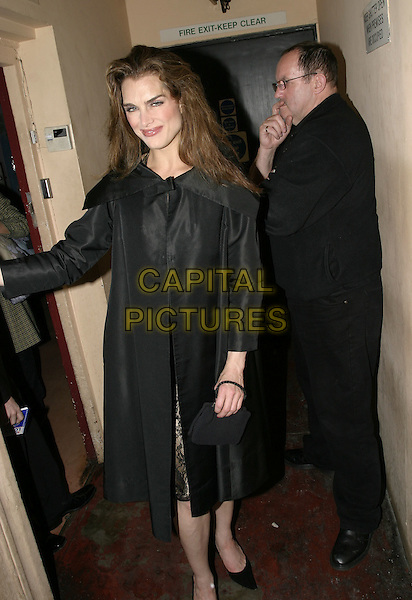 "BROOKE SHIELDS.Leaving the Stage Door of the Adelphi Theatre after her first night on stage as Roxie Heart in ""Chicago"", .London, April 28th 2005..full length funny Sheilds drunk.Ref: AH.www.capitalpictures.com.sales@capitalpictures.com.©Adam Houghton/Capital Pictures."