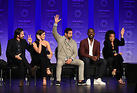 """HOLLYWOOD, CA - MARCH 24: Actors Milo Ventimiglia, Mandy Moore, Jon Huertas, Sterling K. Brown, and Susan Kelechi Watson attend PaleyFest 2019 for 20th Century Fox Television's """"This is Us"""" at the Dolby Theatre on March 24, 2019 in Hollywood, California. (Photo by Frank Micelotta/20th Century Fox Television/PictureGroup)"""