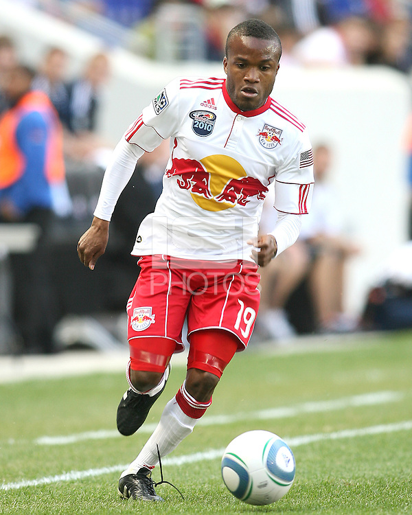 Dane Ricards #19 of the New York RedBulls during a MLS match against the Philadelphia Union on April 24 2010, at RedBull Arena, in Harrison, New Jersey.RedBulls won 2-1.