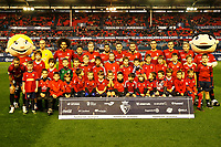 Main team of CA Osasuna before the Spanish football of La Liga 123, match between CA Osasuna and Málaga CF at the Sadar stadium, in Pamplona (Navarra), Spain, on Saturday, November 3, 2018.