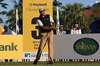 Gaganjeet Bhullar (IND) on the 3rd tee during Round 1 of the Maybank Championship at the Saujana Golf and Country Club in Kuala Lumpur on Thursday 1st February 2018.<br /> Picture:  Thos Caffrey / www.golffile.ie<br /> <br /> All photo usage must carry mandatory copyright credit (© Golffile | Thos Caffrey)