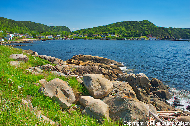 Shoreline along White Bay. Baie Verte Peninsula.<br />