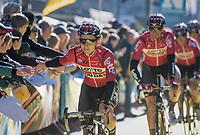 Jasper de Buyst (BEL/Lotto-Soudal) & his Lotto-Soudal teammates at the (new) race start in Antwerpen<br /> <br /> 101th Ronde Van Vlaanderen 2017 (1.UWT)<br /> 1day race: Antwerp › Oudenaarde - BEL (260km)