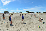 NELSON, NEW ZEALAND November 11: Celebrity Beach Volleyball with Sam O'Dea & Shaunna Polley, Tahunanui Beach Courts, Nelson, New Zealand, November 11, 2018 (Photos by: Barry Whitnall/Shuttersport Ltd