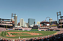 An overall view of Busch Stadium, during a game between the St. Louis Cardinals and the Washington Nationals on April 5, 2008. (AP Photo/Chris Bernacchi)