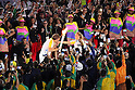 (L-R) Gustavo Kuerten, Hortencia Marcari (BRA), <br /> AUGUST 5, 2016 : <br /> Opening Ceremony <br /> at Maracana <br /> during the Rio 2016 Olympic Games in Rio de Janeiro, Brazil. <br /> (Photo by Yohei Osada/AFLO SPORT)