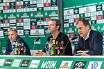 10.07.2020, PK-Raum in der Ostkurve des wohninvest Weserstadions , Bremen, GER, Pressekonferenz der Geschäftsführung Werder Bremen<br /> Zum Abschluss der Saison 2019/2020 lud der SV Werder Bremen  zur PK ein - Thema: Ergebnisse der Gespräche zur Aufarbeitung der zurückliegenden Bundesligasaison<br /> <br /> im Bild / picture shows <br /> <br /> Marco Bode (Aufsichtsratsvorsitzender SV Werder Bremen)<br /> Florian Kohfeldt (Trainer SV Werder Bremen)<br /> Klaus Filbry (Vorsitzender der Geschäftsführung / Kaufmännischer Geschäftsführer SV Werder Bremen)<br /> <br /> <br /> Foto © nordphoto / Kokenge
