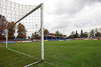 A general view of Amlin Stadium before the Vanarama National League match between Braintree Town and Grimsby Town at the Amlin Stadium, Braintree, England on 10 October 2015. Photo by PHC Images.