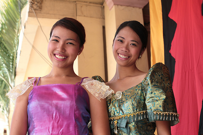 Local beauties prepare to take the stage for a performance during annual Independence Day celebrations in the town of Sindangan, Mindanao Island, Philippines. June 12, 2011.