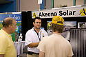 Akeena Solar is a commercial and residential solar power installation company. West Coast Green is the nation?s largest conference and expo dedicated to green innovation, building, design and technology. The conference featured over 380 exhibitors, 100 presenters, and 14,000 attendees. Location: San Jose Convention Center in Silicon Valley (San Jose, California, USA), September 25-27, 2008