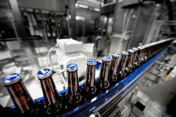Impressions of the production centre of the brewery concern Alken-Maes in Alken (Belgium, 11/06/2014)