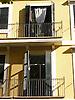 Facade with balcony and green wooden window shutters<br /> <br /> Fachada con balcones y persianas verdes<br /> <br /> Fassade mmit Balkonen und gr&uuml;nen Holzfensterl&auml;den<br /> <br /> 2272 x 1704 px<br /> 150 dpi: 38,47 x 28,85 cm<br /> 300 dpi: 19,24 x 14,43 cm