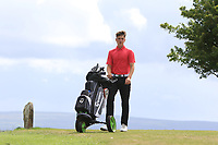 Joshua McCabe (Roganstown) on the 10th tee during the Final round in the Connacht U16 Boys Open 2018 at the Gort Golf Club, Gort, Galway, Ireland on Wednesday 8th August 2018.<br /> Picture: Thos Caffrey / Golffile<br /> <br /> All photo usage must carry mandatory copyright credit (&copy; Golffile | Thos Caffrey)