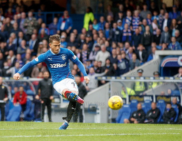 Joe Garner shoots wide from distance