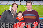 Maureen, Kevin and Joe O'Shea (Kenmare) pictured at Croke Park on Sunday for the Kenmare vs Ballinasloe final.