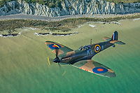 MkI Spitfire over Beachy Head<br /> photo John Dibbs<br /> Spitfire (2018)<br /> *Filmstill - Editorial Use Only*<br /> CAP/PLF<br /> Image supplied by Capital Pictures