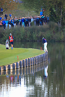 Tony Finau (Team USA) during the Friday Fourballs at the Ryder Cup, Le Golf National, Paris, France. 27/09/2018.<br /> Picture Phil Inglis / Golffile.ie<br /> <br /> All photo usage must carry mandatory copyright credit (© Golffile | Phil Inglis)